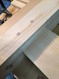 Pine And Oak Furniture First Drawbored Mortise And Tenon Joint Oak Pins Pine Frame