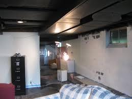 cool black ceiling basement home creations finishing basement