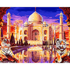 Paint Places by Online Get Cheap Taj Mahal Painting Aliexpress Com Alibaba Group