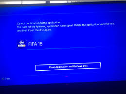 fifa keeps saying application data corrupted answer hq