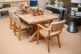 reclaimed pine trestle dining table mecox gardens