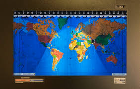 World Time Clock Map by Kilburg Geochron World Clock Pursuitist
