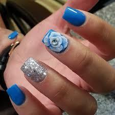 55 seasonal fall nail art designs silver glitter flower power