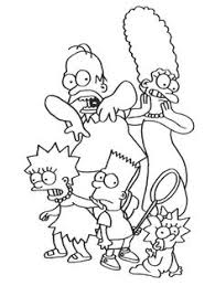 the simpsons funny coloring pages omalovanky pinterest