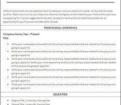 free printable resume examples free printable resume best
