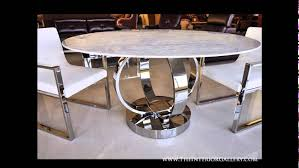 luxury round dining table modern luxury round dining table white marble cerchio youtube