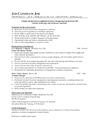 Forklift Experience On Resume Inventory Control Description Resume Free Resume Example And
