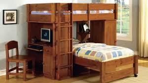 Bunk Bed With Workstation Contemporary Bunkbed With Desk Inside Loft Beds Desks Hayneedle