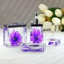 Purple Bathroom Accessories by Bathroom Accessories Set Purple Decor Shower Curtain Purple