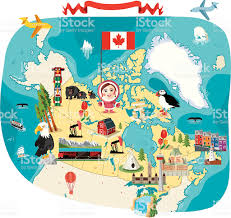 Map Of Canada by Cartoon Map Of Canada Stock Vector Art 165955552 Istock
