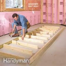 how to finish a basement framing and insulating u2014 the family handyman
