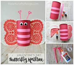 valentines mailbox how to make a butterfly s day mailbox i heart crafty