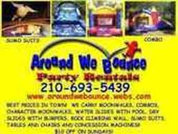 san antonio party rentals around we bounce party rentals san antonio party