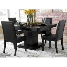 5 pc dining table set homelegance cicero 5 piece dining room set in black beyond stores