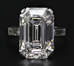 asscher cut engagement ring vintage cartier