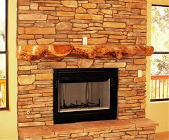 rustic fireplace mantel for