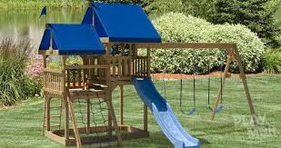 Swing Set For Backyard by Outdoor Oasis Backyard Swing Sets Play Mor Swingsets In Ohio