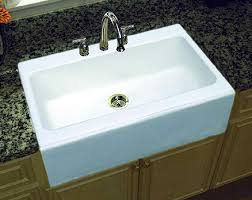 cast iron drop in sink endearing apron front kitchen sink ideas for a countryside or