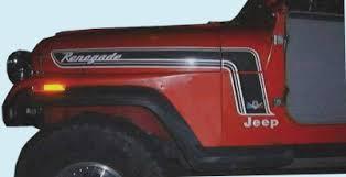 1974 jeep renegade graphix 1974 75 jeep renegade decal kit