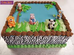 zoo themed birthday cake zoo animals