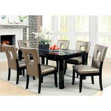 glass dining room table set glass dining room sets for less overstock