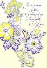 thoughtful flowers thank you card greeting cards hallmark