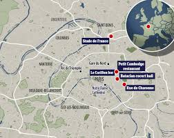 Paris France On A Map by Citizen Journalism Coverage On The Paris Attacks