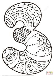 number 3 coloring page number 3 coloring page free printable