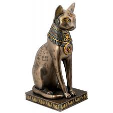 Home Decor Statues Egyptian Cat Goddess Bast Or Bastet With Egyptian Symbols And