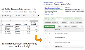 Html5 Spreadsheet Enhanced Script Create Ads From A Spreadsheet Optmyzr Adwords
