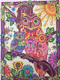 Owls Creative Haven Dover Publishing Prismacolor Markers Colored Owl Coloring Ideas