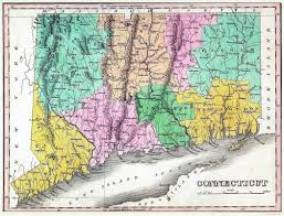 State Map Of The Usa by Large Old Map Of Connecticut State With Relief Roads And Cities
