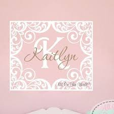 Monogram Wall Decals For Nursery Personalized Elephant Wall Decal For Nursery Monogram
