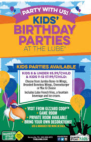 kids birthday party locations kids birthday at the qs l sevierville restaurant
