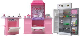 Kitchen Dollhouse Furniture by Amazon Com Barbie Size Dollhouse Furniture Kitchen Set Toys