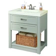 Antique Bathroom Vanity Ideas Bathroom 25 Inch Allen And Roth Vanity With Vessel Sink For