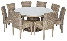 Cape Cod Chairs Cape Cod Vintage Stone Outdoor Patio Dining Table With 8 Armless
