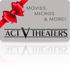 theater gift cards act v theaters giftcards groups