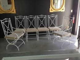 Outdoor Deck Furniture by Furniture White Wrought Iron Outdoor Dining Chair Using Cream