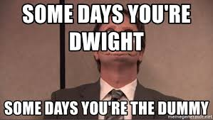Cpr Dummy Meme - some days you re dwight some days you re the dummy dwight cpr