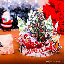 online greeting cards free new 3d handmade christmas tree santa claus greeting cards creative
