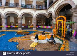 Dia de Muertos Day of the Dead decorations Morelia Michoacan
