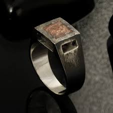 signet ring men rustic mens ring unique men s ring silver signet ring
