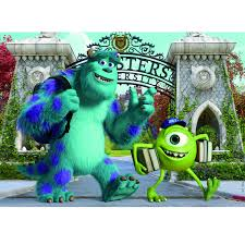 jigsaw puzzle 2 x 50 wooden pieces monsters inc monsters