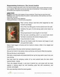 diagramming sentences the secret garden worksheet education com