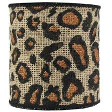 leopard ribbon 4 gold glitter leopard burlap wired edge ribbon hobby lobby
