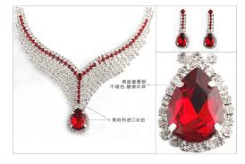 diamond necklace red images 2018 wedding jewelry fashion red diamond necklace necklace jpg