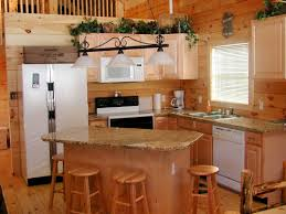 l shape kitchen design and decoration using rustic solid pine wood