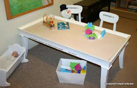 how to build a sensory table coffee table turned sensory playroom table design dazzle
