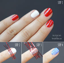 thanksgiving nail art tutorial 4th of july nail art tutorial pretty prudent